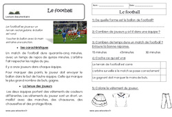 Le football – Cp – Lecture documentaire