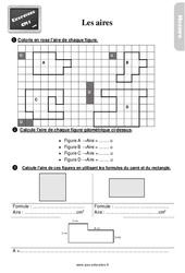 Exercices, révisions sur l'aire au Cm1 avec les corrections