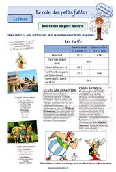 Le parc Astérix – Les gaulois – Ce1 – Ce2 – Lecture pluridisciplinaire