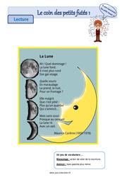 La Lune – Ce1 – Ce2 – Lecture pluridisciplinaire