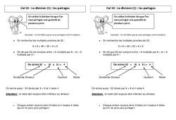 Division - les partages + La technique – Leçon – Ce2