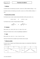 Fonctions circulaires – Terminale – Cours