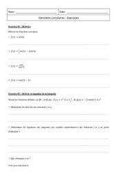 Fonctions circulaires – Terminale – Exercices corrigés