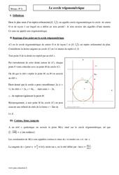 Cercle trigonométrique – Terminale – Cours