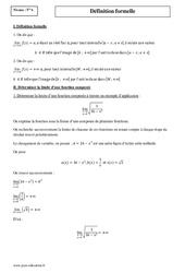 Définition formelle - Terminale - Cours