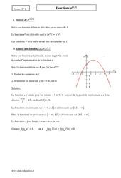 Fonctions e u(x) - Terminale - Cours