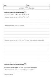 Fonctions e u(x) – Terminale – Exercices corrigés