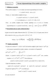 Forme trigonométrique – Terminale – Cours
