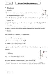 Forme géométrique – Terminale – Cours