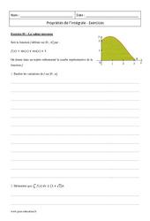 Propriétés de l'intégrale – Terminale – Exercices corrigés