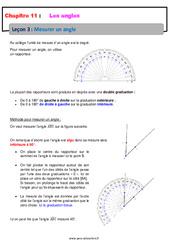 Mesurer un angle - 6ème - Cours