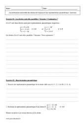 Caractérisation vectorielle – Droites de l'espace – Terminale – Exercices