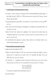 Plans de l'espace – Caractérisation vectorielle – Terminale – Cours