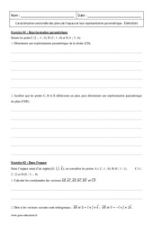 Caractérisation vectorielle d'un plan – Terminale – Exercices