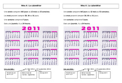 Calendrier - Ce2 - Leçon