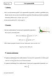 Loi exponentielle - Terminale - Cours