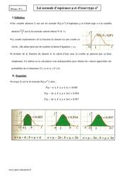 Loi normale d'espérance µ et d'écart type σ2 - Terminale - Cours