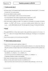 Nombres premiers et PGCD – Terminale – Cours