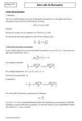 Intervalle de fluctuation – Terminale – Cours