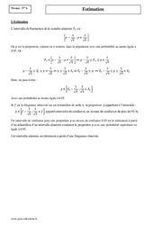 Estimation – Terminale – Cours