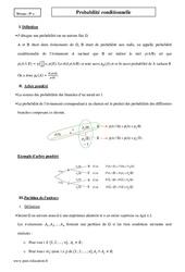Probabilité conditionnelle – Terminale – Cours