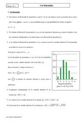 Loi binomiale – Terminale – Cours