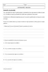 Loi binomiale – Terminale – Exercices corrigés