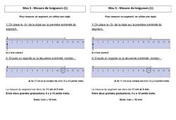 Mesure de longueurs + les unités de mesure – Ce2 – Leçon