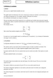 Matrices – Terminale – Cours – Définition