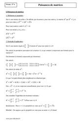 Puissances de matrices – Terminale – Cours