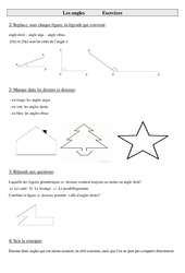 Angles – Cm1 – Cm2 – Exercices – Géométrie – Cycle 3