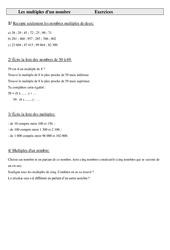 Multiples d'un nombre - Cm1 - Exercices - Calculs - Mathématiques - Cycle 3