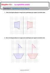 Symétrique d'une figure – 6ème – Révisions – Exercices avec correction sur la symétrie axiale
