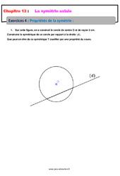 Propriétés de la symétrie – 6ème – Révisions – Exercices avec correction sur la symétrie axiale