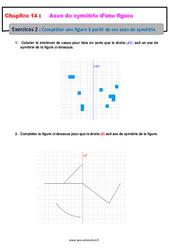 Compléter une figure à partir de ses axes de symétrie – 6ème – Révisions – Exercices avec correction