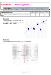 Compléter une figure à partir de ses axes de symétrie – 6ème – Evaluation avec la correction