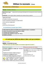 Utiliser la monnaie (l'euro) – CM1 – CM2 – 6ème – SEGPA – EREA – Décrochage scolaire