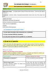 La mesure du temps (le calendrier) - CM1 - CM2 - 6ème - SEGPA - EREA - Décrochage scolaire