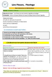 Lire l'heure et l'horloge – CM1 – CM2 – 6ème – SEGPA – EREA – Décrochage scolaire