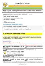 Les fractions simples – CM1 – CM2 – 6ème – SEGPA – EREA – Décrochage scolaire