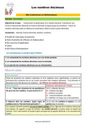 Les nombres décimaux - CM1 - CM2 - 6ème - SEGPA - EREA - Décrochage scolaire