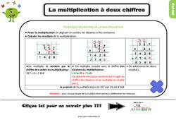Trace écrite, leçon à imprimer sur la technique opératoire de la multiplication à 2 chiffres au Ce2