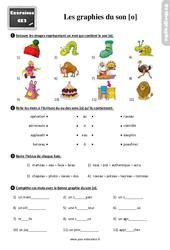 Exercices, révisions avec les corrections sur les graphies du son [o] – Ce2