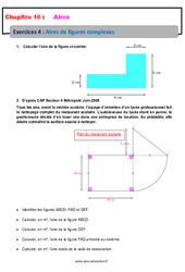 Aires des figures complexes – 6ème – Révisions – Exercices avec correction