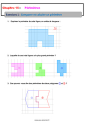 Comparer et calculer un périmètre – 6ème – Révisions – Exercices avec correction
