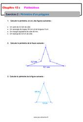 Périmètre d'un polygone – 6ème – Révisions – Exercices avec correction