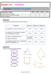 Périmètre d'un polygone – 6ème – Evaluation avec la correction
