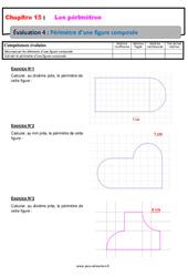 Périmètre des figures composées - 6ème - Evaluation avec la correction