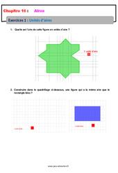 Unités d'aire – 6ème – Révisions – Exercices avec correction