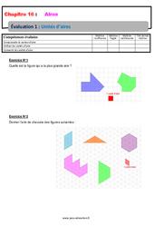 Unités d'aire – 6ème – Evaluation avec la correction